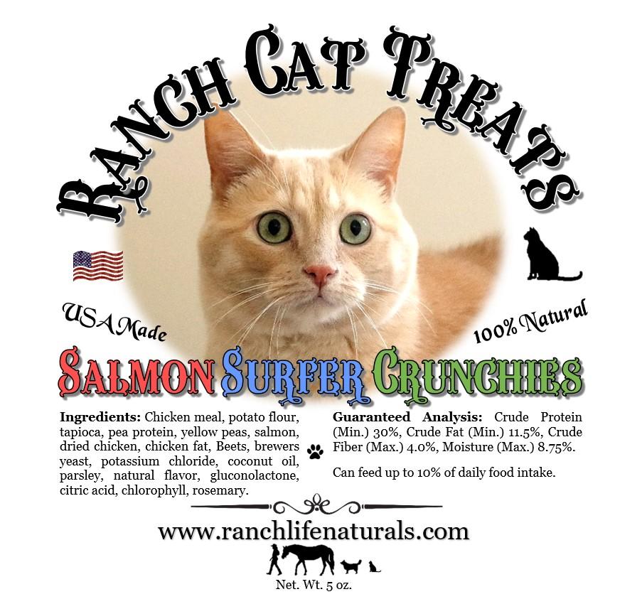 Ranch Cat Treats ~ Salmon Surfer Crunchies